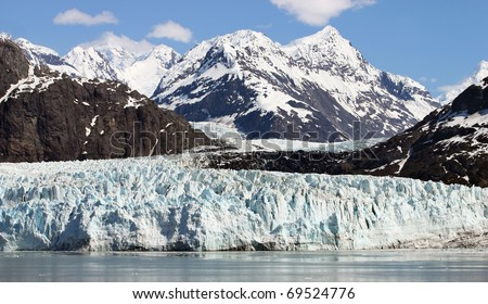 Scenery of Glacier Bay in Alaska - stock photo