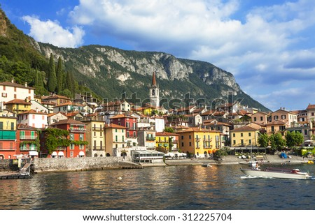 scenery of Lago di Como - Varenna, Italy - stock photo