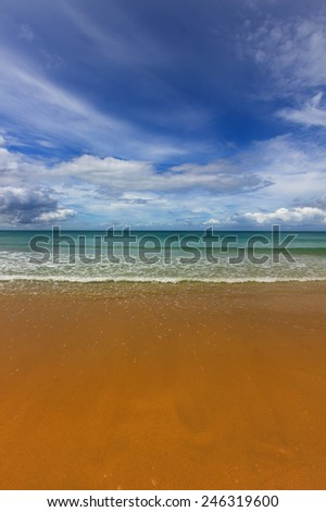 Scenery of the beach during sunny day - stock photo