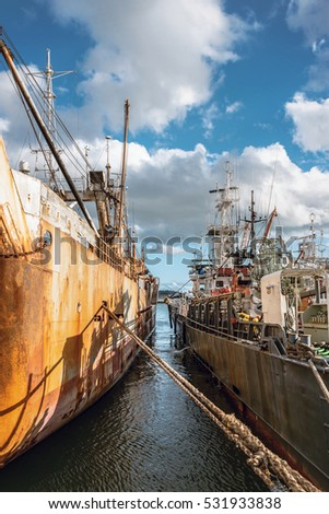 Scenery of the fishing port