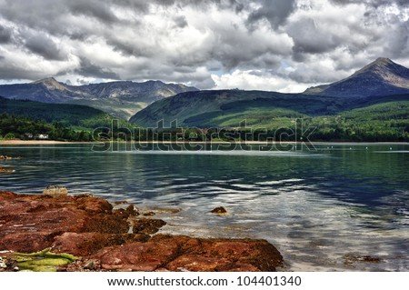 Scenery of the Isles of Arran in Scotland - stock photo