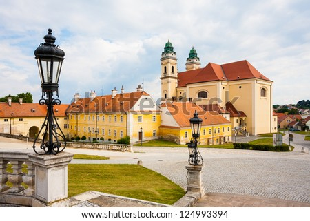 Scenery of town Valtice (South Moravia, UNESCO heritage) - stock photo