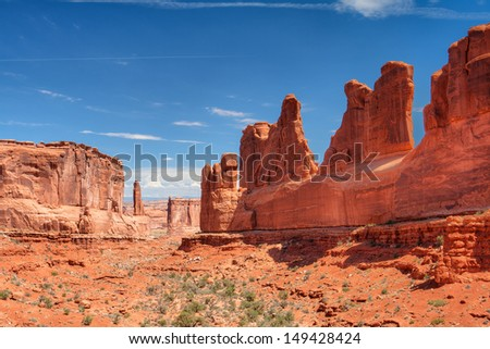 Scenes from famous Arches National Park, Moab,Utah,USA