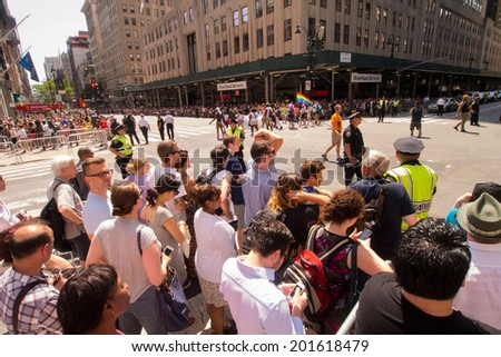 Scenes From The Nyc Gay Pride Parade On June 29 2014 In New York City