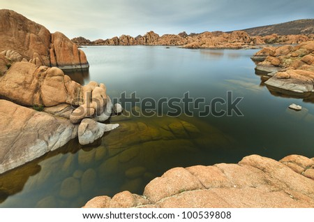 Scenic Arizona Lake Watson near Prescott - stock photo