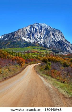 Scenic back road 12 in Colorado - stock photo