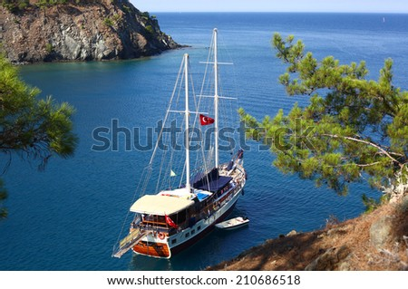 Scenic bay near to Kemer, Turkey