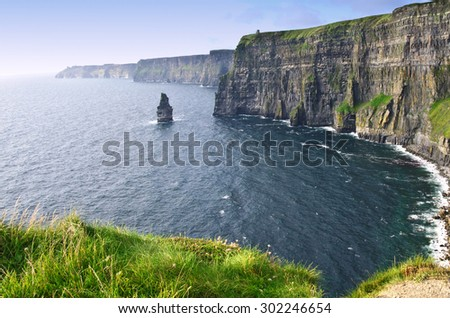 scenic cliffs near the west coast of ireland