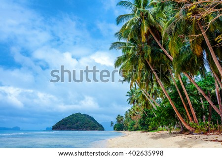 Scenic El-nido, Palawan, Philippines - stock photo