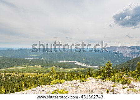 Scenic Hiking Views of the Rocky Mountains, Powderface Ridge, Kananaskis Country Alberta Canada