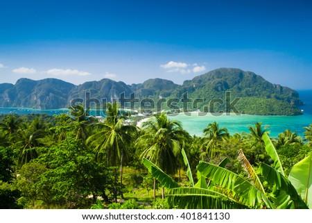 Scenic  Holidays Azure Bay  - stock photo
