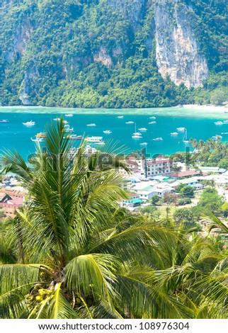 Scenic  Holidays Heaven Seascape - stock photo