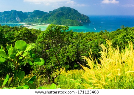 Scenic  Holidays High Above  - stock photo