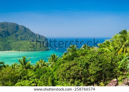 Scenic  Holidays Idyllic Panorama  - stock photo