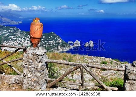 scenic Italy series - Capri island - stock photo