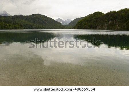Scenic Lake Konigsee in Bavarian Alps.