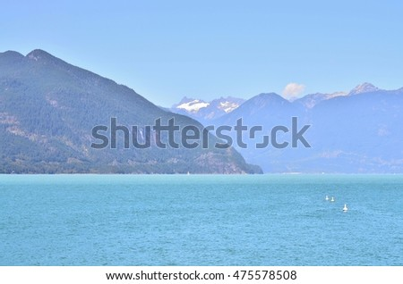 scenic landscape for ocean and lake scenery