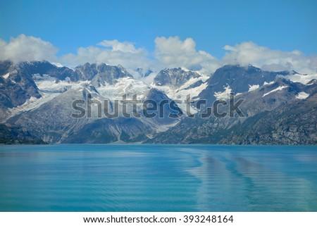 Scenic landscape of the Glacier Bay National Park, Alaska - stock photo