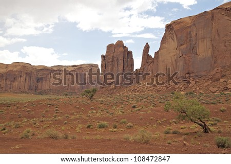 Scenic Monument Valley on the Navajo Indian Reservation