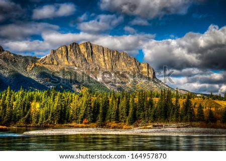 Scenic Mount John Laurie Kananaskis Country Alberta Canada - stock photo