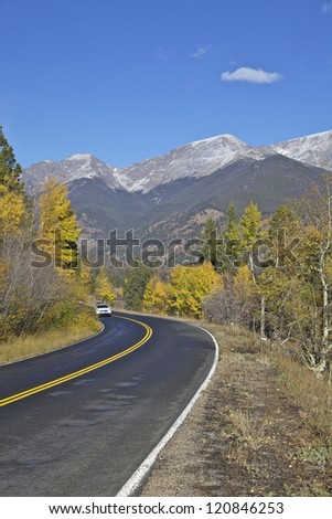 Scenic Mountain Highway in Fall