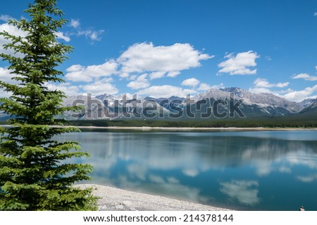 Scenic mountain lake, Smith-Dorrien/Spray Trail, Kananaskis Country, Alberta, Canada