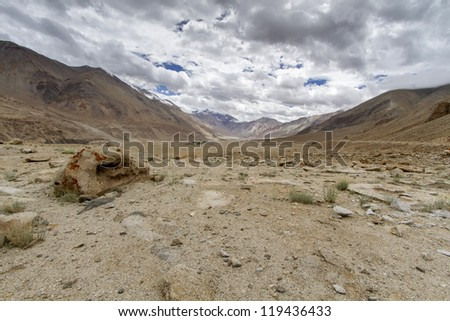 Scenic mountain landscape in Ladakh, India