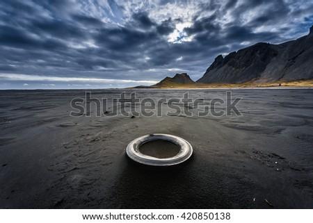 Scenic mountain landscape shot - stock photo