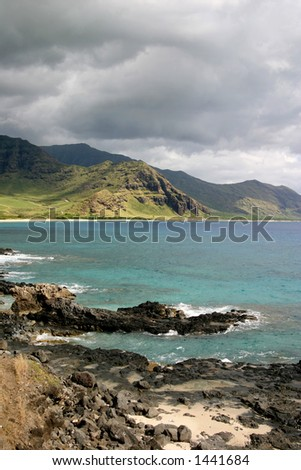 Scenic of the Northwestern Shore of Oahu, HI