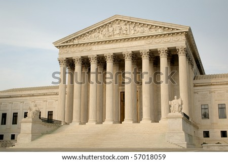 Scenic Photo from Washington DC. United States Supreme Court Building.