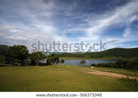 Scenic Rhi Lake in Chin State, Myanmar (Burma) - stock photo