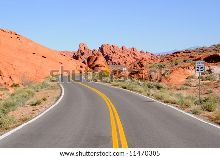 Scenic Road through Valley of Fire State Park