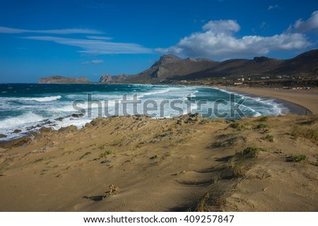 Scenic seascape at Falasarna beach, Crete, Greece