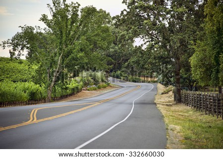Scenic shots along Highway 12, Valley of the Moon wine region - stock photo