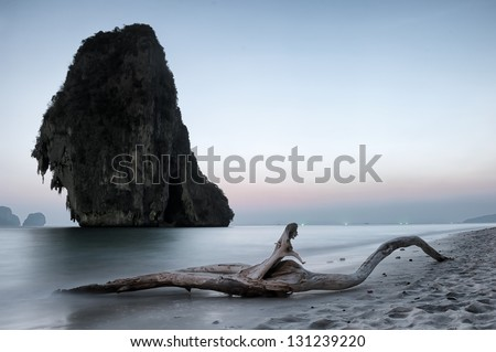 Scenic tranquil landscape. Nature sea photography - stock photo