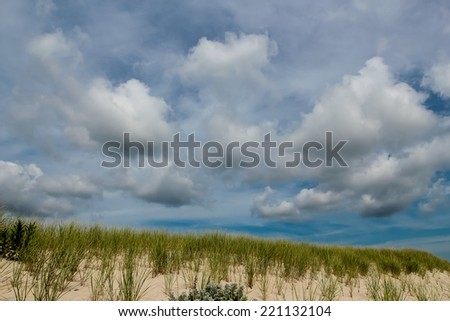 Scenic view at the Atlantic coast - stock photo