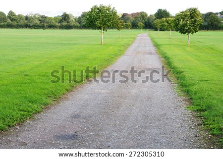 Scenic View of a Country Road in Rural England - stock photo