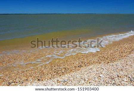 scenic view of Colonial River Beach on Potomac River