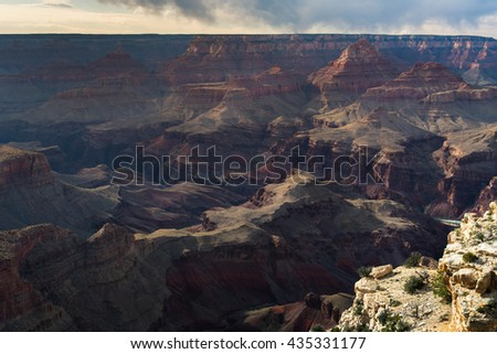 Scenic view of Grand Canyon from Overlook, Arizona