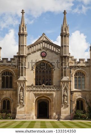 Scenic view of Kings College Chapel, Cambridge University, England. - stock photo