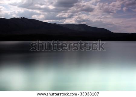 Scenic view of Lake McDonald in Glacier National Park, Montana. - stock photo