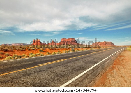 Scenic view of Monument Valley  - stock photo