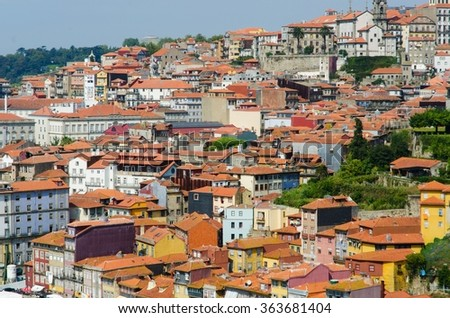 Scenic view of Porto city
