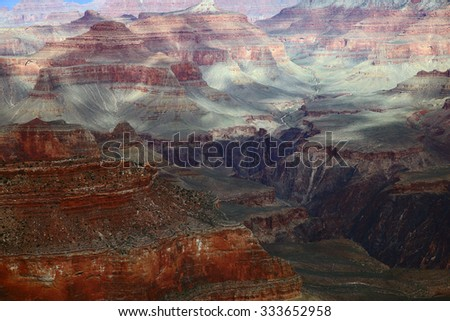Scenic view of the Grand Canyon National Park, Arizona, USA - stock photo