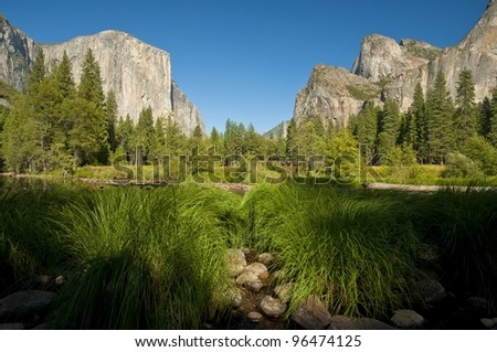 scenic view on Yosemite National Park in California, USA, Kalifornien