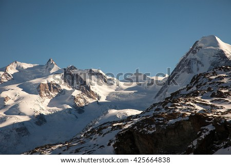 Scenic views around Zermatt and Matterhorn, Switzerland