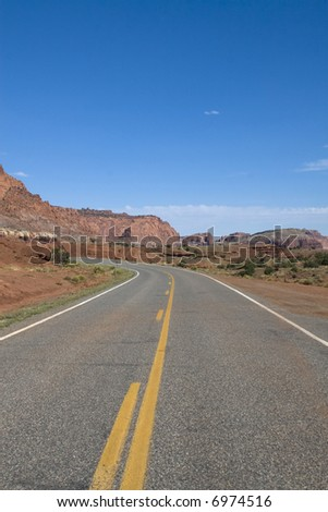 Scenic views of Capitol Reef National Park