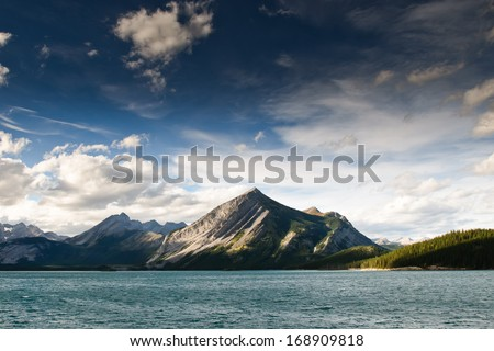 Scenic views of Kananaskis Lakes Alberta Canada - stock photo