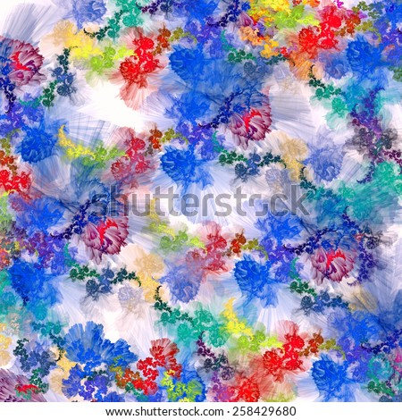 Scenic watercolor background,  - stock photo