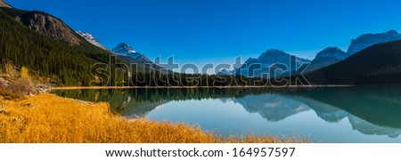 Scenic Waterfowl Lake on the Icefields Parkway, Banff National Park